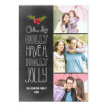 Oh By Golly Holiday Photo Card 13 Cm X 18 Cm Invitation Card