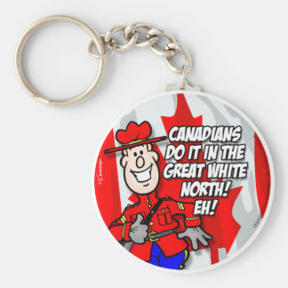 Oh Canada EH! Basic Round Button Key Ring