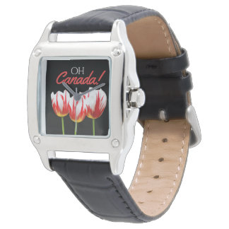 Oh Canada Maple Leaf Tulips Watch