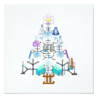Oh Chemistry, Oh Chemist Tree 13 Cm X 13 Cm Square Invitation Card