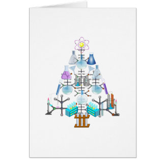 Oh Chemistry, Oh Chemist Tree Greeting Card