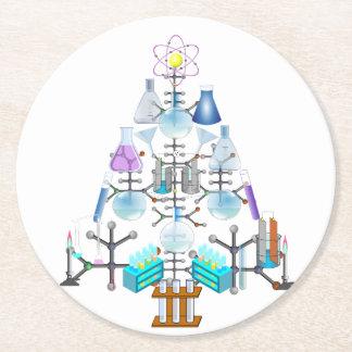 Oh Chemistry, Oh Chemist Tree Round Paper Coaster