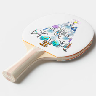 Oh Chemistry, Oh Chemist Tree Ping Pong Paddle