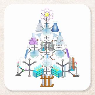 Oh Chemistry, Oh Chemist Tree Square Paper Coaster