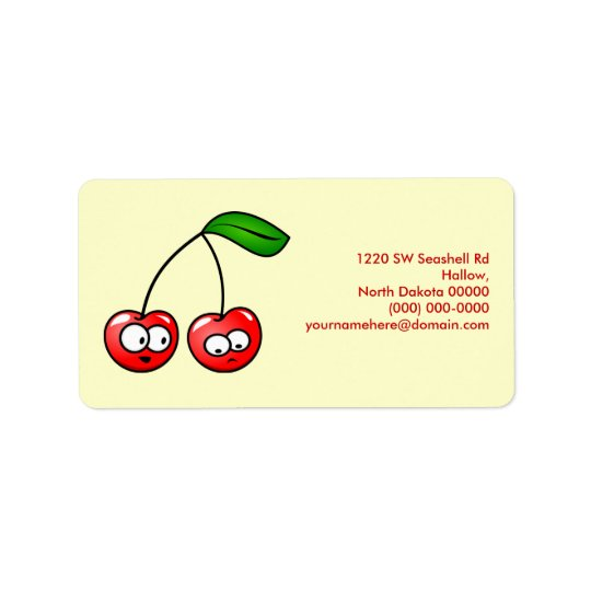 Oh, Cherry Up! Cherries Address Label