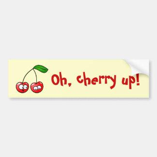 Oh, Cherry Up! Cherries Bumper Sticker Car Bumper Sticker