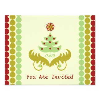 Oh Christmas Tree 11 Cm X 14 Cm Invitation Card