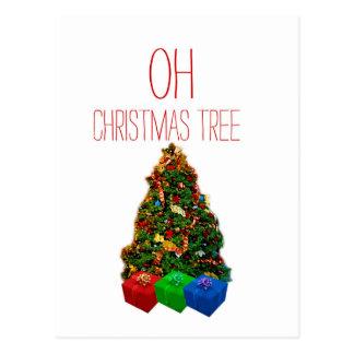 Oh Christmas Tree Art Effect Postcard