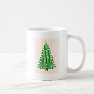 Oh, Christmas Tree! Bead Pattern Basic White Mug