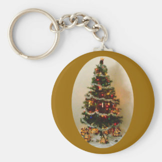 Oh, Christmas Tree Button Keychain Key Chain
