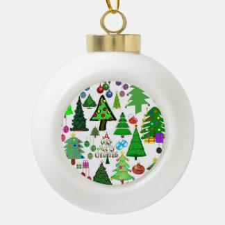 Oh Christmas Tree! Ceramic Ball Christmas Ornament