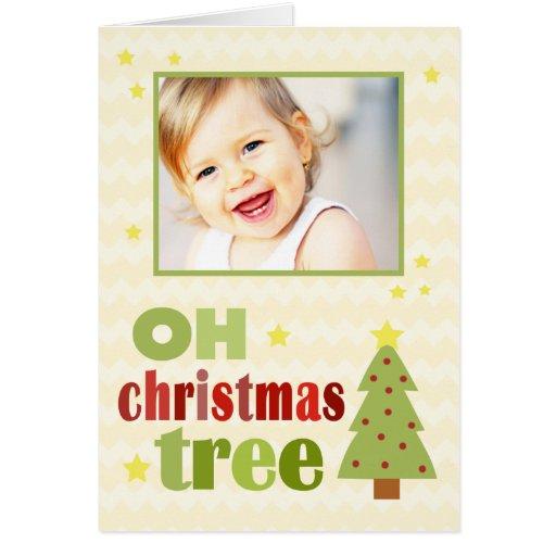OH Christmas Tree Chevron Folded Christmas Card