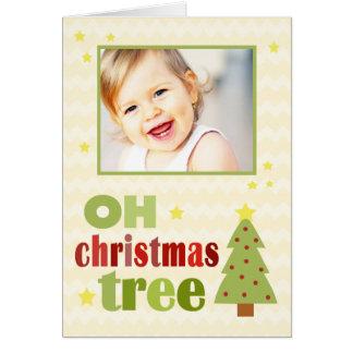 OH Christmas Tree Chevron Folded Christmas Greeting Card