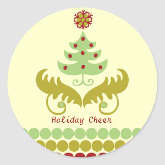 Oh Christmas Tree Classic Round Sticker