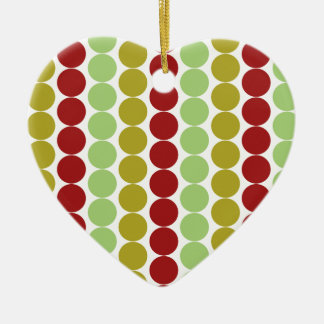 Oh Christmas Tree Double-Sided Heart Ceramic Christmas Ornament
