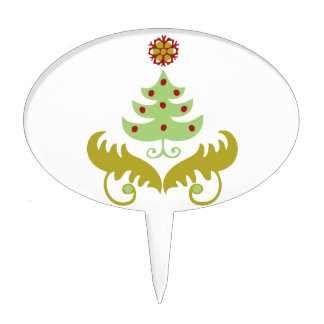 Oh Christmas Tree gifts Cake Toppers