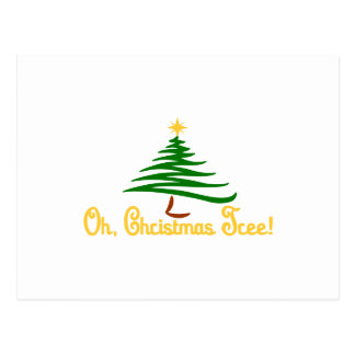 Oh, Christmas Tree Postcard