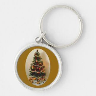 Oh, Christmas Tree Premium Round Keychain Keychains