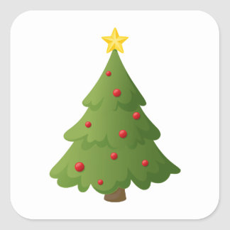 Oh Christmas tree Square Sticker