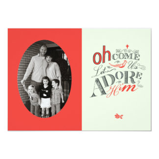 Oh come let us Adore Him Holiday Card 13 Cm X 18 Cm Invitation Card