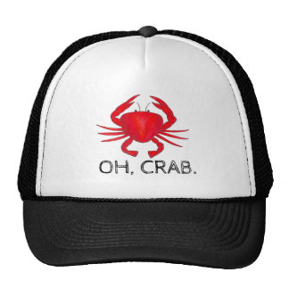 Oh, Crab (Crap) Red Baltimore Maryland Crabs Hat