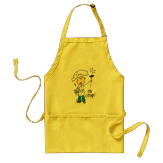 Oh Crap Funny Barbecue Gift Standard Apron