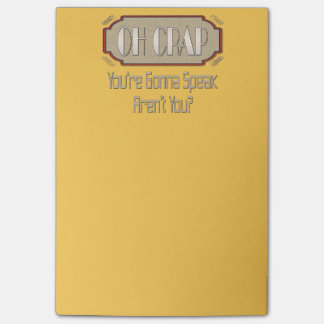 Oh Crap! Funny Gift Ideas. Post-it® Notes