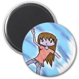 oh crap 6 cm round magnet