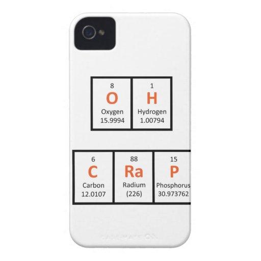 Oh Crap Periodic Table Case Case-Mate Blackberry Case