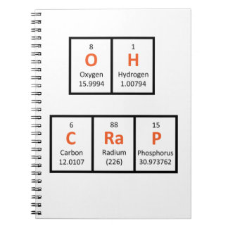 Oh Crap Periodic Table Notebook