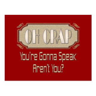Oh Crap Post Card