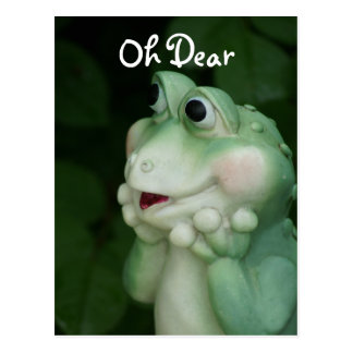 Oh Dear Frog- customize for any occasion Postcard