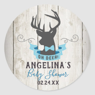 Oh Deer Baby Shower Stickers Favour Tag