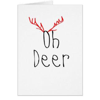 Oh Deer Christmas card