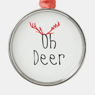 Oh deer christmas ornament round