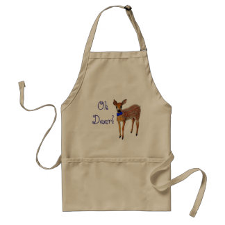 """""""Oh Deer"""" Fawn Adult Apron"""