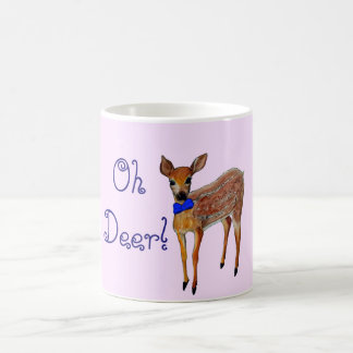 """Oh Deer"" Fawn Basic White Mug"