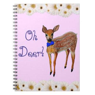 """""""Oh Deer"""" Fawn Notebook"""