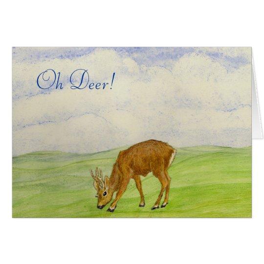 Oh Deer! Get well soon Card