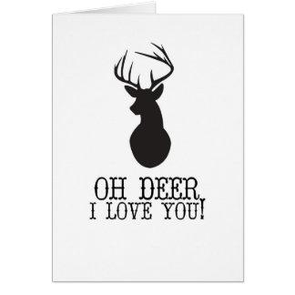 Oh Deer, I Love You Greeting Card