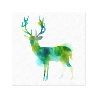 Oh Deer in Watercolour Canvas Print