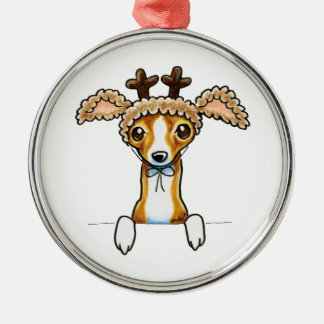 Oh Deer Italian Greyhound Christmas Ornament