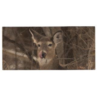 Oh Deer! Wood USB Flash Drive