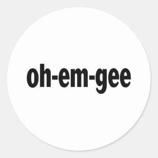 Oh-Em-Gee Round Stickers