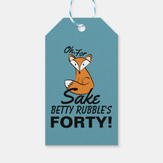 Oh, For Fox Sake 40th Birthday Personalized Gift Tags