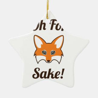 Oh For Fox Sake Ceramic Star Decoration
