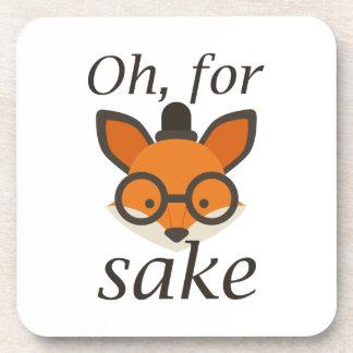Oh, For Fox Sake Coaster