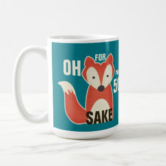 Oh, For Fox Sake I'm 50 Birthday Basic White Mug