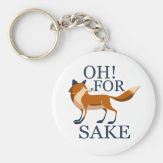 Oh for fox sake key ring