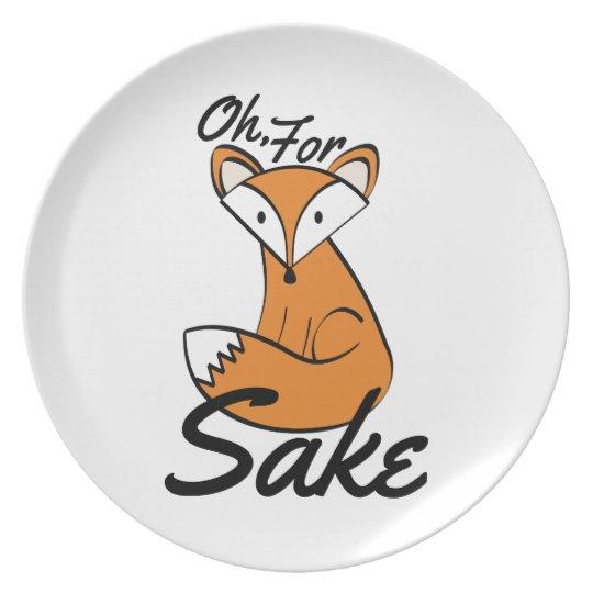 Oh, For Fox Sake Plate